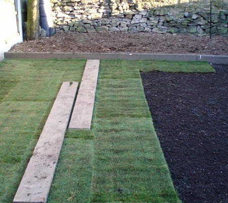 Laying the Lawn Turf